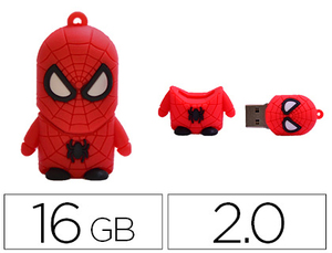 MEMORIA USB TECHONETECH FLASH DRIVE 16 GB 2.0 SUPER SPIDER