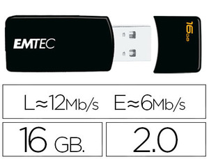 MEMORIA USB EMTEC FLASH 16 GB 2.0 EM-DESK