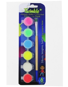 Pack de 6 Témperas Luminiscentes-TWINKLE (3ml)