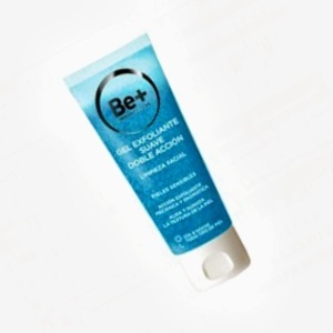 Be+ gel exfoliante suave doble acción de 75 mL