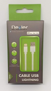 Cable Dexler lightning con Licencia Apple 2,4A Dexler