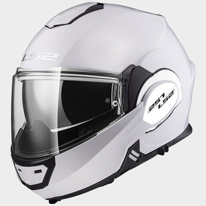 CASCO LS2 FF399 VALIANT SINGLE MONO BLANCO BRILLO