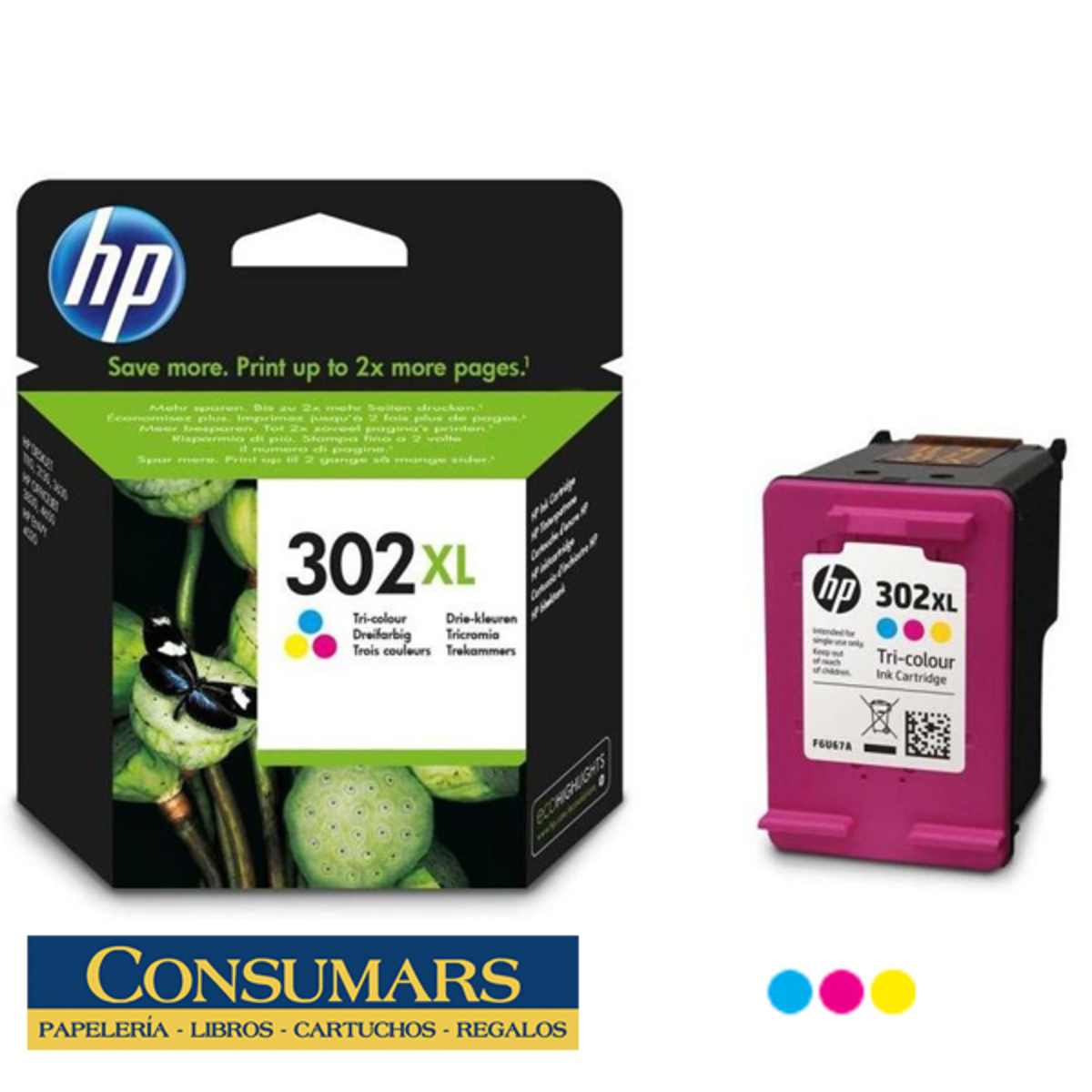 Cartucho de Tinta Original HP 302XL Tricolor