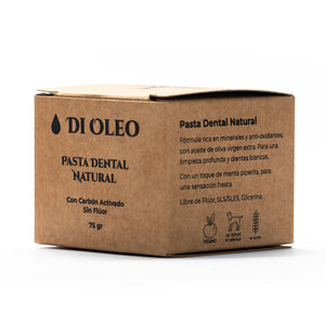 Pasta dental 100% natural con carbón activado. 75 gr