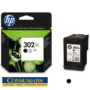 Cartucho de Tinta Original HP 302XL Negro
