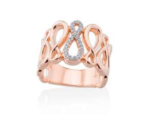 Anillo Eight Plata Rosa