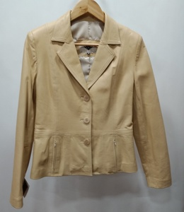 Chaqueta sra. Napa color marrón crema
