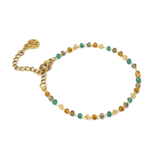 Pulsera multicharm blanco marrón